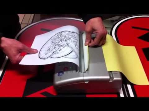 mini thermal copier machine for tattoo stencils youtube