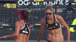 2018 FIVB Huntington Beach Open: Barbara/Fernanda vs Pavan/Humana-Paredes - Women's Semifinal Match