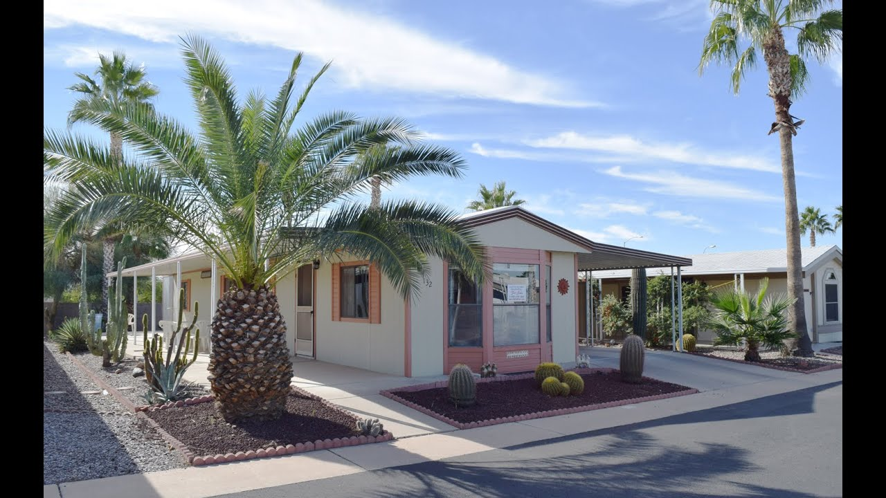 Fully Furnished Palm Harbor 2BR 2BA 14 X 66 In Pueblo Manor MHP Apache Junction AZ