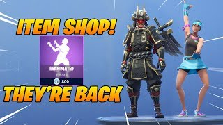 *NEW* SHOGUN SKIN & BACKSTROKE EMOTE ARE BACK! Fortnite Item Shop January 28, 2019