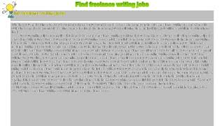 How to : Find freelance writing jobs