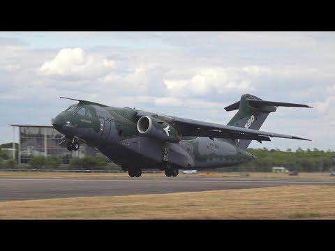 KC-390 Embraer flying Display at Farnborough AirShow 2018 FIA18