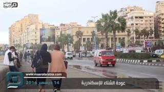 مصر العربية   عودة الشتاء للإسكندرية