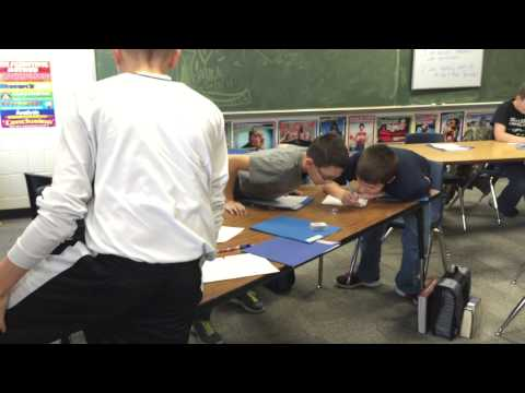 Olympia Middle School students race in multiplication with dice