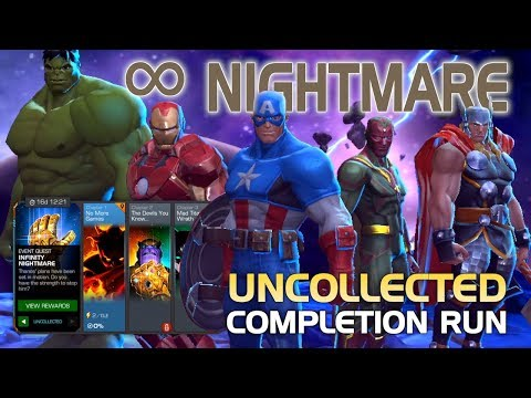 Infinity Nightmare: Full Uncollected Completion Run & Cutscene | Marvel Contest of Champions