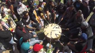 Northern Cree Sings a Wicked Crow Hop at Erminskin Powwow 2015