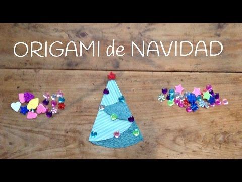 Origami fácil para niños, un precioso árbol de Navidad infantil