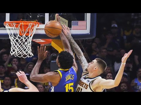 Nuggets Beat Warriors with Buzzer Beating Block! GSW vs DEN Highlights!