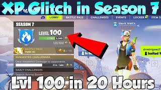 *NEW* Working XP Glitch in Fortnite Season 7! How To LEVEL UP FAST!