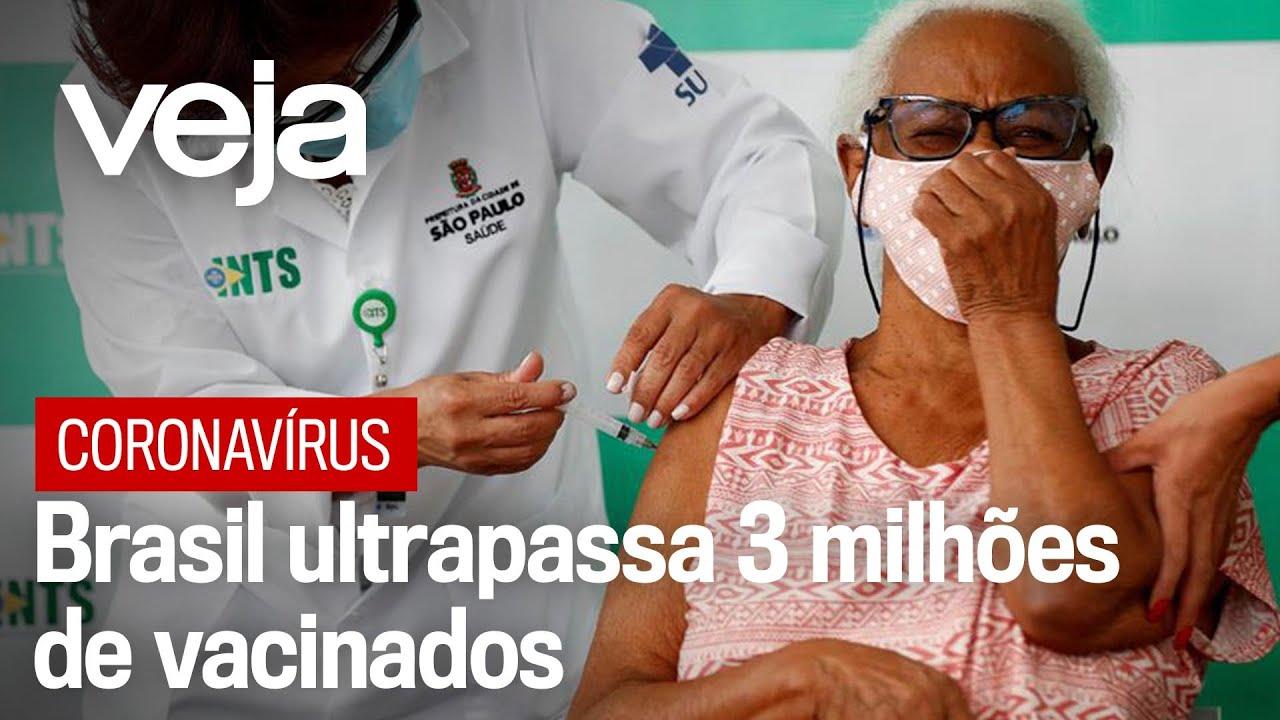 Brasil ultrapassa os três milhões de vacinados contra o coronavírus
