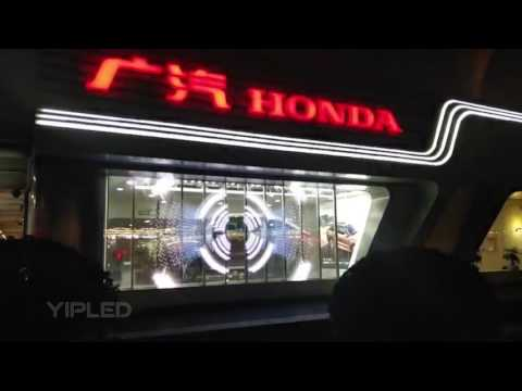 YipLED | Beijing Airport HONDA experience store transparent LED screen
