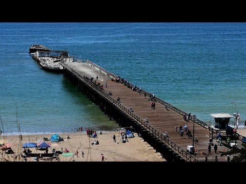 A ship made of concrete. Seacliff State Beach near Santa Cruz.
