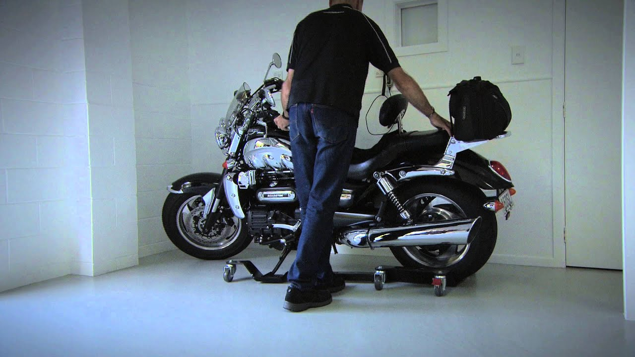 gmt pro motorcycle roller stand youtube. Black Bedroom Furniture Sets. Home Design Ideas