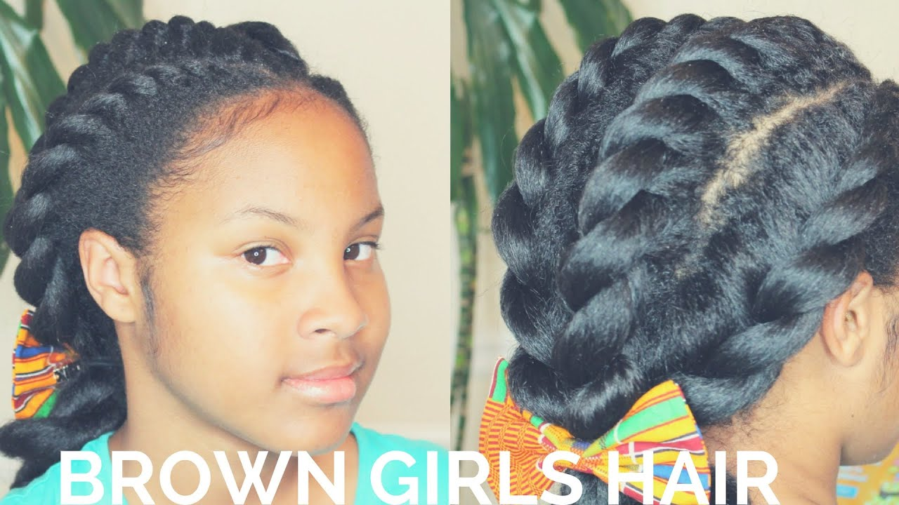 4 chunky flat twists hairstyle | natural hair kids - youtube