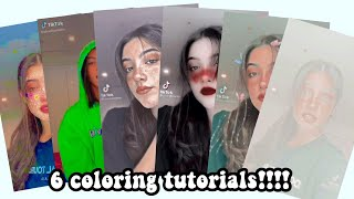 6 Different Fan Page Coloring Tutorials