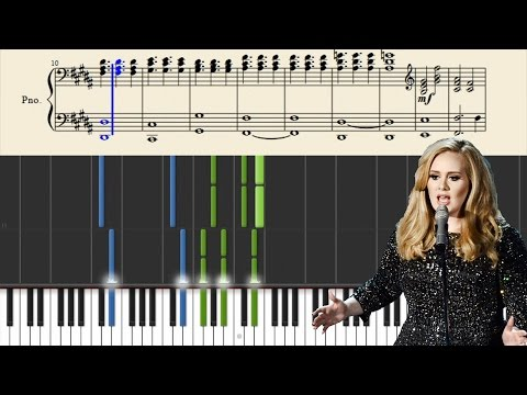 Adele - When We Were Young - Piano Tutorial + Sheets