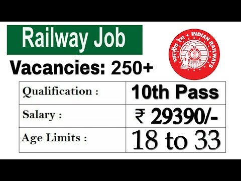 10th Pass Railway Recruitment 2018 Apply Online Railway Job Notification 2018 August 2018 19