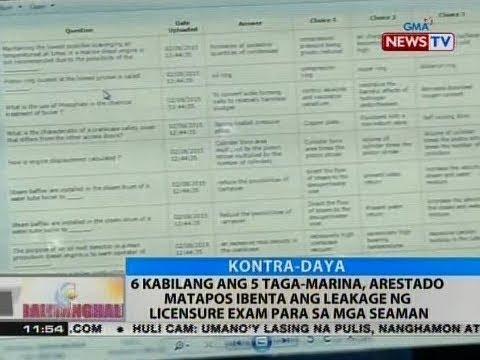 BT: 6 kabilang ang 5 taga-Marina, arestado matapos ibenta ang leakage ng licensure exam