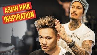 Mens Haircut:  Straight to Wavy Haircut & Hairstyle   Asian Hair Inspiration