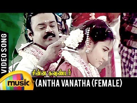 Antha Vanatha Pola Video Song | Female Version | Chinna Gounder Movie | Vijayakanth | Ilayaraja
