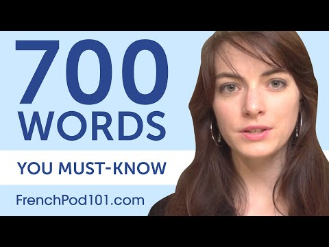 700 Words Every French Beginner Must Know