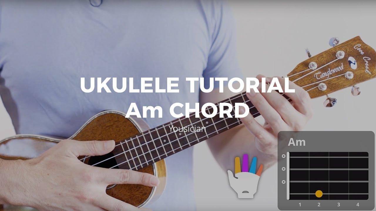 Ukulele Tutorial - Am Chord - YouTube