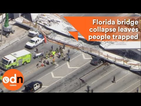 Florida bridge collapse leaves people trapped