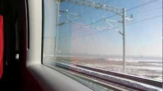 中国の高速鉄道の車窓(大連北駅⇒盖州西駅 進行方向右側)