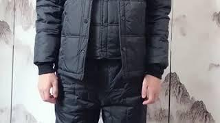 중년 남성 우모바지 우모복 다운 재킷 라이너 가을 겨울…