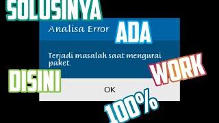 Cara mengatasi aplikasi #ANALISA ERROR
