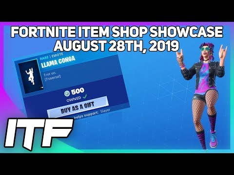 Fortnite Item Shop *NEW* LLAMA CONGA TRAVERSAL EMOTE! [August 28th, 2019] (Fortnite Battle Royale)