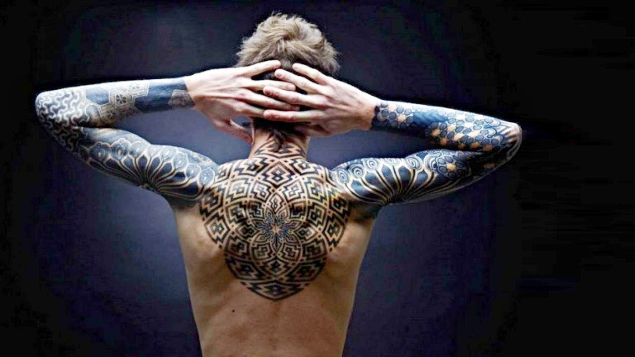 Image result for blackout tattoo geometric