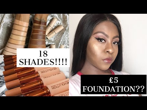MAKEUP REVOLUTION FAST BASE STICK FOUNDATION REVIEW AND WEAR TEST!