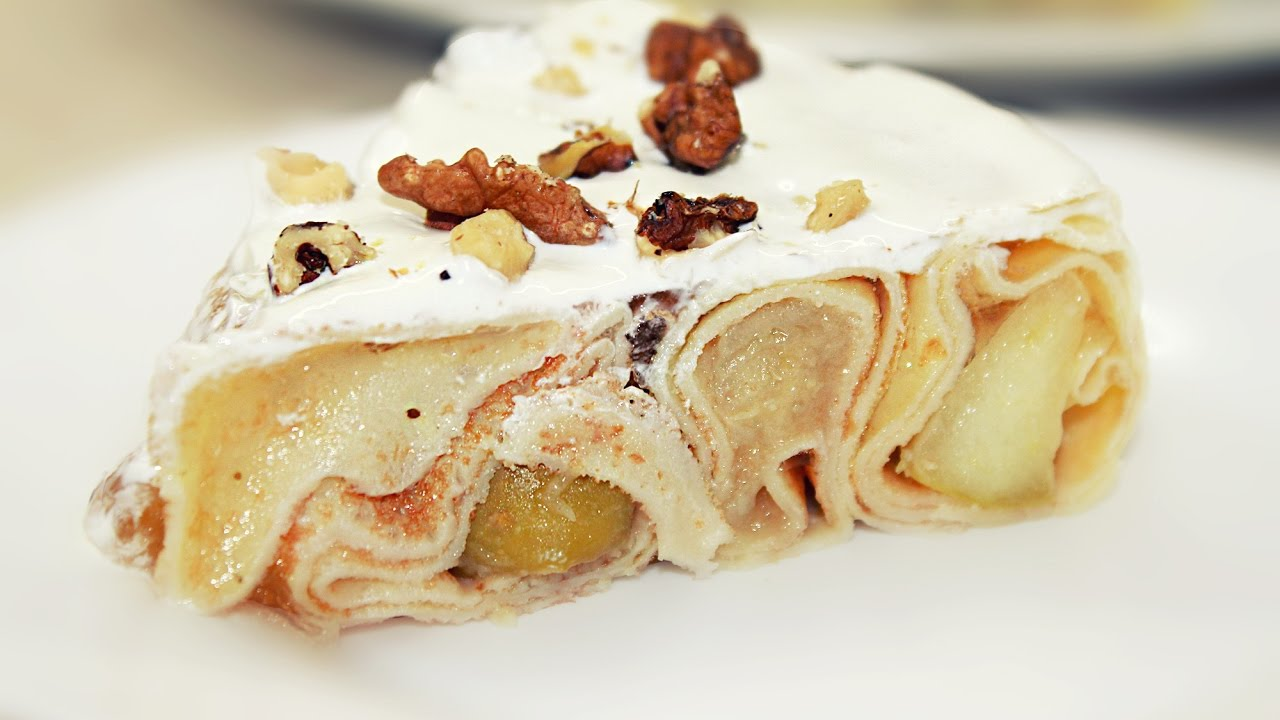 Как сделать торт из блинчиков фото 53