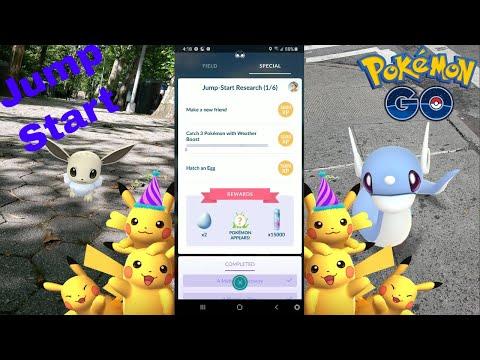 Pokemon Go Jump - Start Research Complete & Free Shiny Eevee!