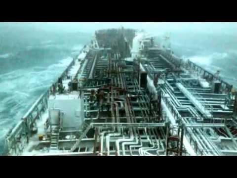 Tanker Ship, Bad Weather 28 01 2015 Outside Boston.