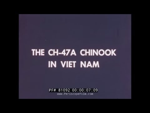 CH-47A CHINOOK HELICOPTER IN VIETNAM 1st CAVALRY DIVISION 81092