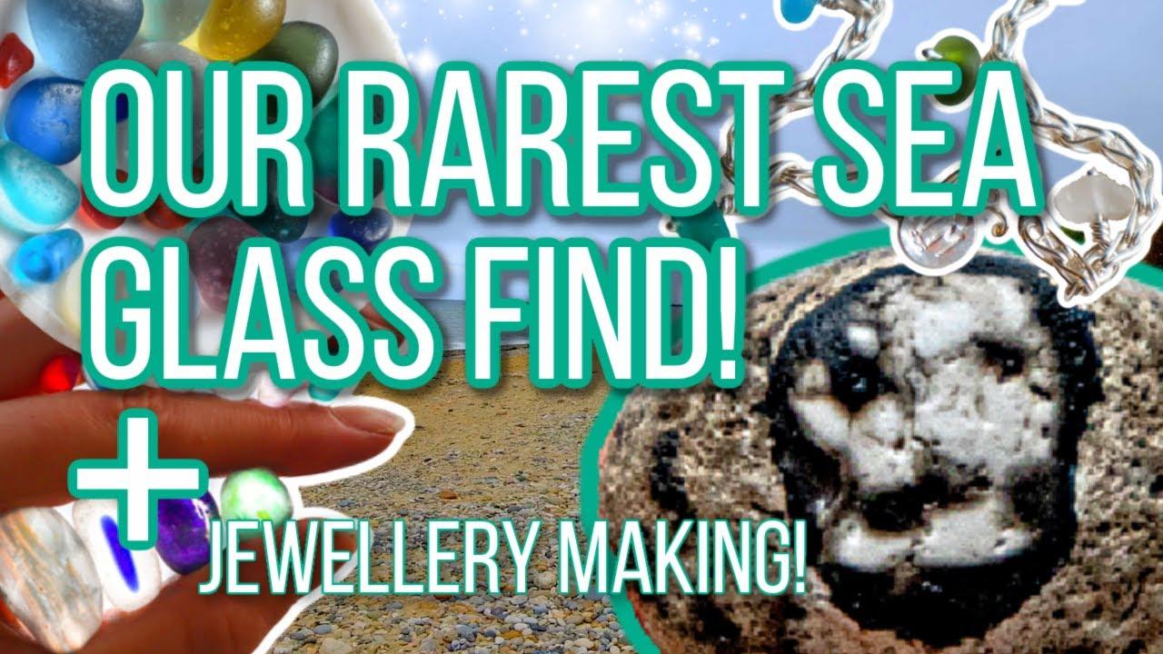 Rare sea glass skull! Beachcombing for Seaham sea glass!