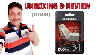 Samsung EVO Plus 64 GB Micro SD Card Unboxing and Review in Hindi 2018