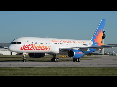 Jet2 Holidays | 757-236 | G-LSAD | Early Morning Takeoff At Manchester Airport | HD