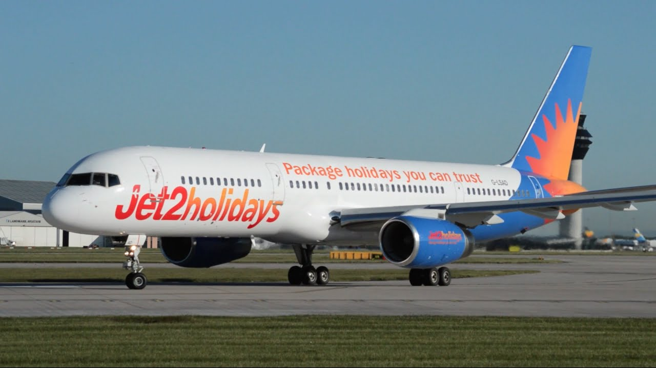 Jet2 holidays 757 236 g lsad early morning takeoff at manchester