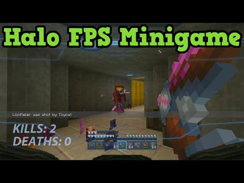 Minecraft Xbox - Halo TEAM SLAYER Minigame - 3v3