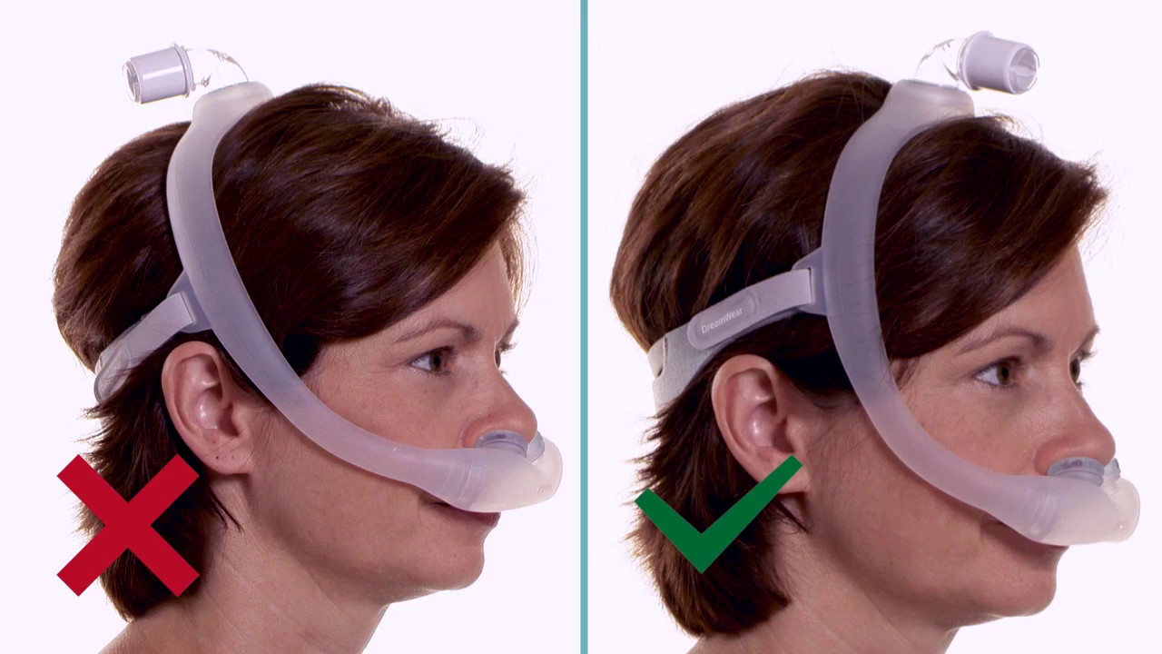 sleep gel pillow dreamwear com by blog nasal sleeping for cpap to philips your nose position a choose mask how respironics