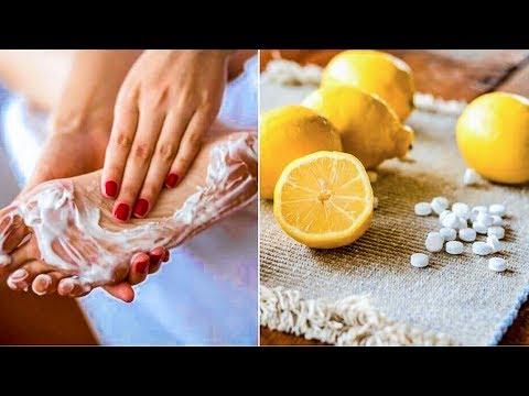 Cмешав сок лимона с аспирином я нанесла смесь на ночь на ноги… Утром я была просто в шоке!