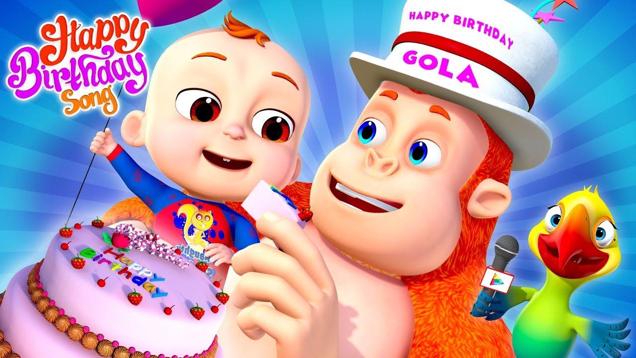 Happy Birthday Song | Demu Gola Rhymes | Nursery Rhymes & Kids Songs|Cartoon Animation For Children - YouTube