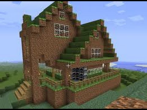How To Make A Dirt Mansion In Minecraft Youtube