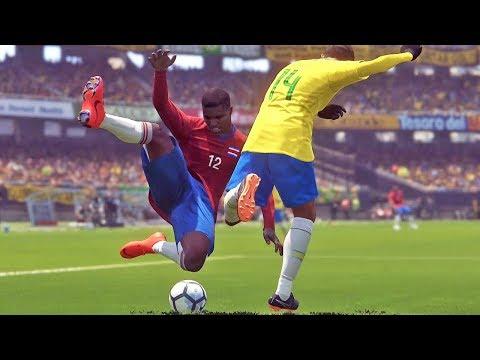 Brasil X Costa Rica: Copa do Mundo Rússia - Pro Evolution Soccer 2018 (PES 2018)