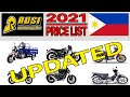 Rusi motorcycle price list in philippines 2021 updated