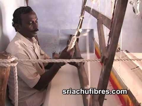 Banana Fibre Cloth Weaving Process Handloom