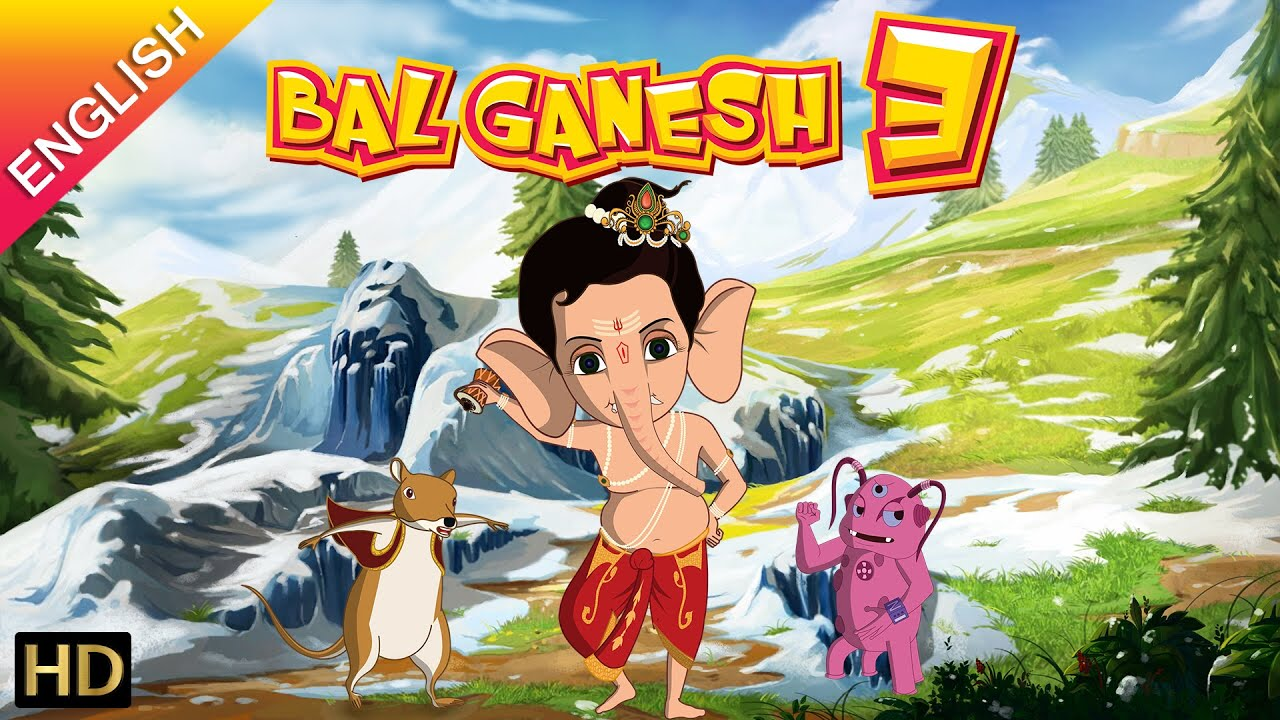 bal ganesh 3 official full movie (english) | kids animated movie